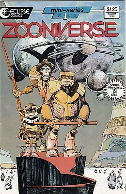 ZOONIVERSE #'s   1, 2, and 3 (Aug 1986, Eclipse) late bronze age key comic lot