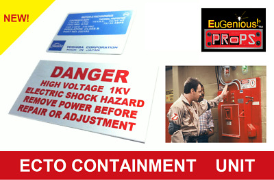 Ghostbusters Ecto Containment Unit Real Metal Aluminum Set Of 2 Labels Low Price