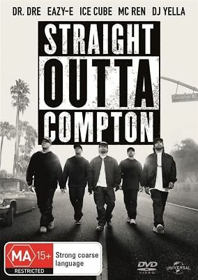 Straight Outta Compton (R4 DVD, 2016) Dr Dre, Eazy-E, Ice Cube AS NEW FREE POST