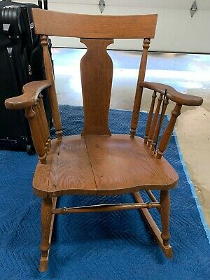 Antique Oak Murphy Rocking Chair original Finish with label as shown