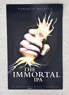 "NEW Elysian Brewing ""the Immortal IPA"" Metal Tin Tacker beer Sign Seattle WA"