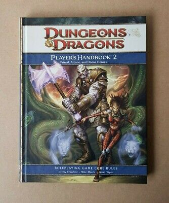 D&D Players Handbook 2 RPG Hardcover 4th Edition Supplement Dungeons & Dragons