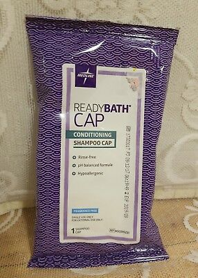 Medline ReadyBath Rinse Free Conditioning Shampoo Cap; Unscented; 21 available !