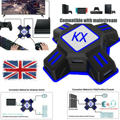 WQ ADAPTER CONVERTER USB For Xbox One PS4 NS Controller To Mouse & Keyboard  FPS
