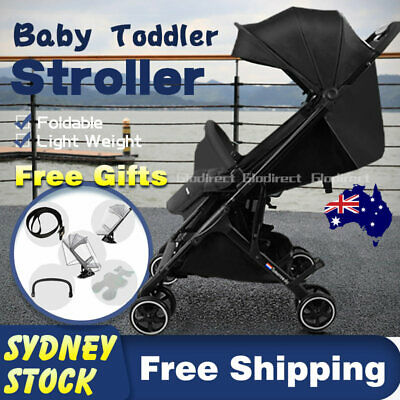 2019 Lightweight Luxury Baby Prams Strollers Compact Foldable Plane Carry On AU