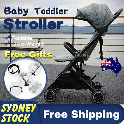 Baby Lightweight Prams Stroller Compact Pushchair Foldable Travel Carry On AU