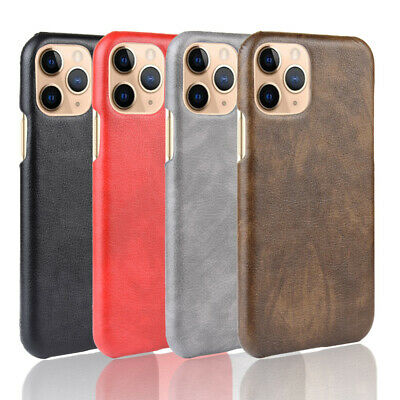 For iPhone 11 Pro Max XR XS MAX X 8 7 6 + PU Leather Hard Back Cover Case