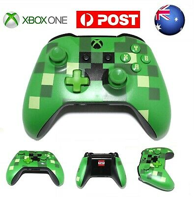 AU Minecraft Creeper MS Xbox One Wireless Game Controller Gamepad With Jack PC W