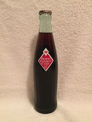 FULL 10oz ROYAL CROWN COLA DIAMOND ACL SODA BOTTLE