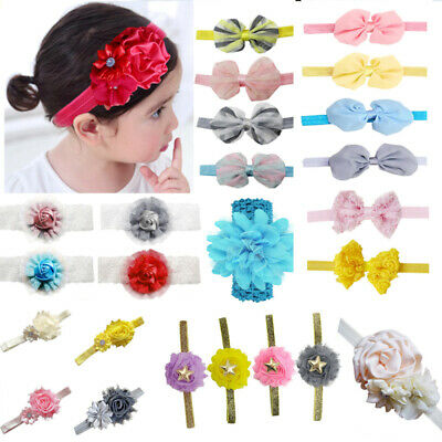 Newborn Bow Baby Girl Toddler Lace Flower Hair Band Headwear Headband Accessorie