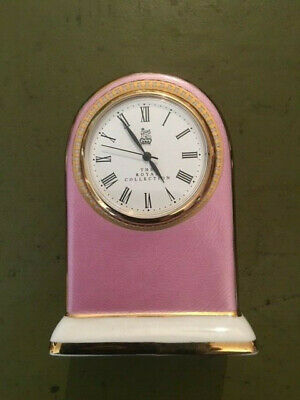 Stunning The Royal Collection Faberge Pink Porcelain Clock