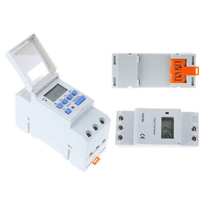 Digital LCD Programmable Timer Switch DIN Rail Mounting Timer AC220-240V 15A AU
