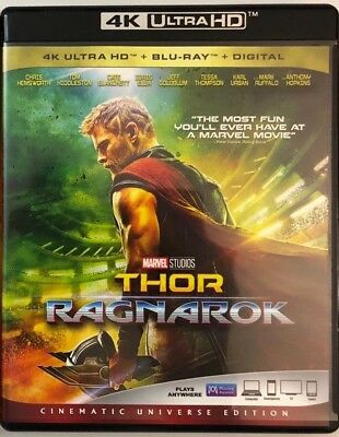 Marvel Thor Ragnarok 4K Ultra Hd Blu Ray 2 Disc Set Free World Wide Shipping