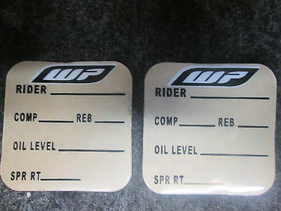 Universal KTM Wp White Power Gabel + Shock Einstellungen Grafik Aufkleber Set