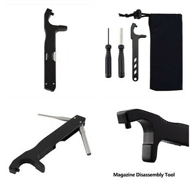 Glock Front Sight Installation Hex Tool Magazine Disassembly Tool with a Pouch