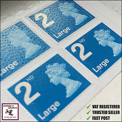 2ND Second Class LARGE SMALL 2018 Postage Stamps BRAND NEW Savings VAT COMPANY