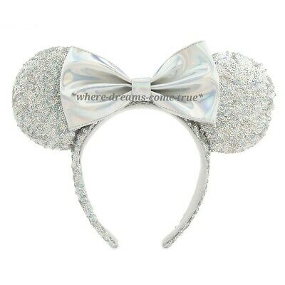 Disney Parks Minnie Mouse Sequined Ear Headband - Magic Mirror Metallic (NEW)