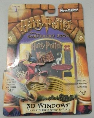 Harry Potter Sorcerers Stone View Master 3D Windows & Decoder 2001 Viewmaster