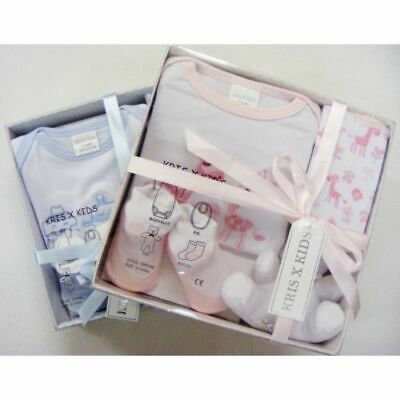New Baby 4 Piece Boxed Gift Set Kris X Kids 0-3 Months Baby Gift