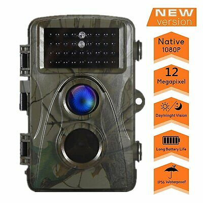 Trail Camera 12MP HD Game Camera Motion Activated Wildlife Hunting Camera BT