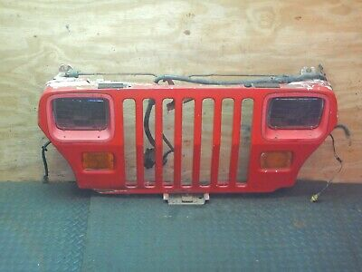 jeep wrangler yj 87-95 red grille / headlights / wiring free shipping