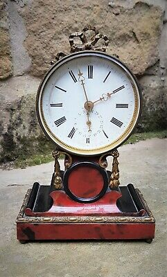 An Unusual 19Thc Small French Timepiece With Date Display - Maker A G ?