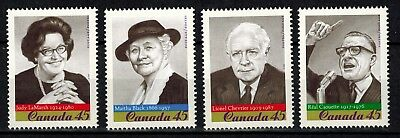 Canada #1661-1664 MNH XF/S 1997 Prominent Canadians CV$3.60