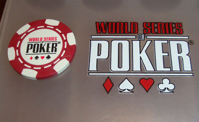 RARE World Series of Poker Chip Guard Las Vegas Rio Casino WSOP Red Double Sided