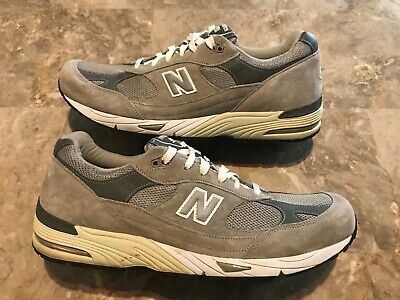 size 40 7aa49 0891f Men s New Balance 991 Made In USA Grey Suede Walking Shoes Size 15 M991GL  Used!