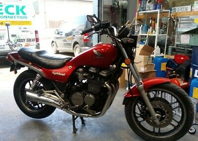 Honda Cb 650 Nighthawk Shaft Drive Running Really Nice. 1983 Model Barn Find :-)