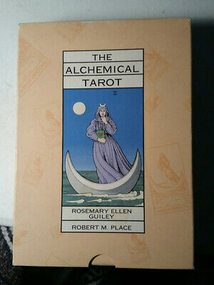 The Alchemical Tarot 1st Ed Box Set Book and Cards by Guiley and Place