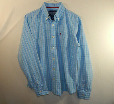 Abercrombie and Fitch AF Kids Long Sleeve Dress Shirt Size BOYS EXTRA LARGE XL