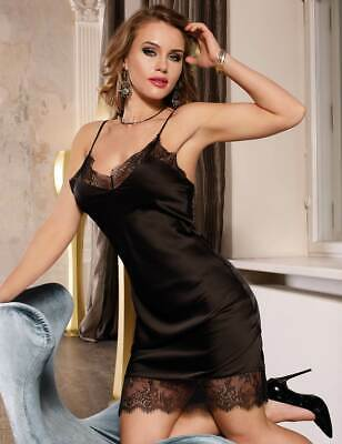Lovely Silky Full Slip With Deep Lace Hem  -  Sizes 8-22 - Black