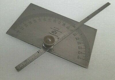 VINTAGE STARRETT Protractor Depth Gage 493B MACHINIST TOOL MADE IN USA VERY NICE