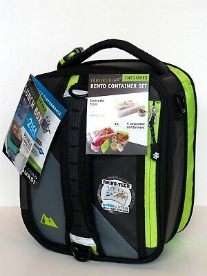 Ultra Arctic Zone Expandable Lunch Box w//2 Ice Walls /& Bento Container Set Gray