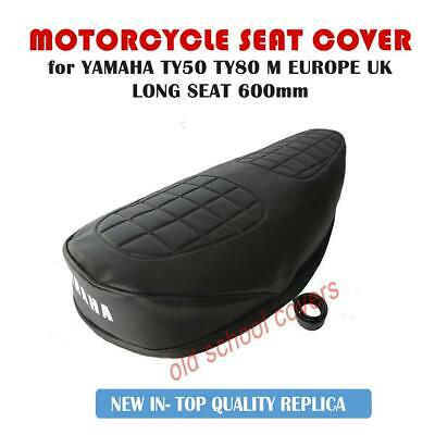 YAMAHA TY50 TY50M TY80 600mm long SEAT COVER + STRAP - CORRECT PATTERN UK & EU