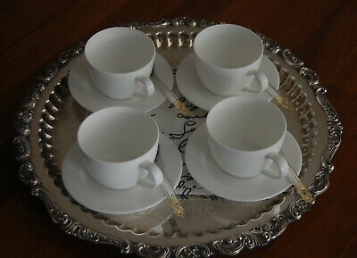 "Wallace Silver 17.5""  Large Baroque Waiter Tea Service Tray- Beautiful Condition"