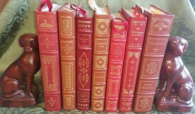 (7) Franklin Library Leather Bound Hb Books Shakespeare Donne Sterne Proust Etc
