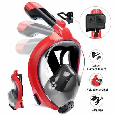 HENGBIRD Snorkel Mask Full Face Snorkel Set with 180° Panoramic View Free