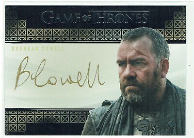 Game of Thrones Inflexions Autograph Card Brendan Cowell as Harrag