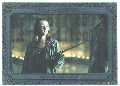 Game of Thrones Inflexions Silver Parallel 117 Arya Confronts Jaqen #54/75