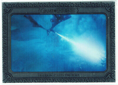 Game of Thrones Inflexions Silver Parallel 150 Viserion Blasts the Wall #18/75