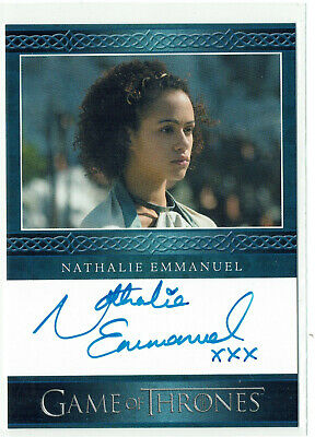 Game of Thrones Season 4 Autograph Card Nathalie Emmanuel as Missandei