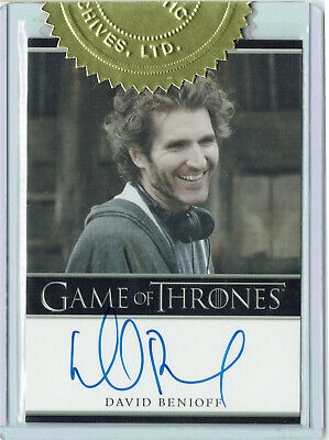 Game of Thrones Season 2 Autograph Card David Benioff Producer 3 Case Incentive