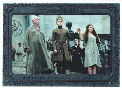 Game of Thrones Inflexions Silver Parallel 90 Faith Militant Arrests Loras#75/75