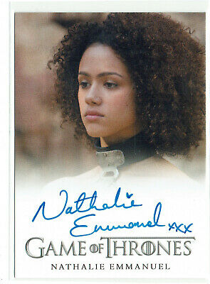 Game of Thrones Season 5 Autograph Card Nathalie Emmanuel as Missandei