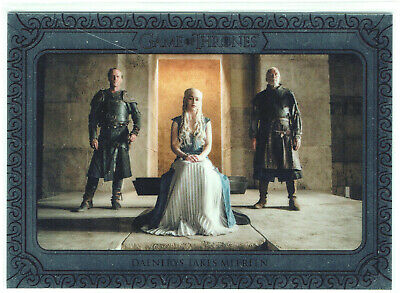Game of Thrones Inflexions Silver Parallel Card 63 Daenerys Takes Meereen #50/75