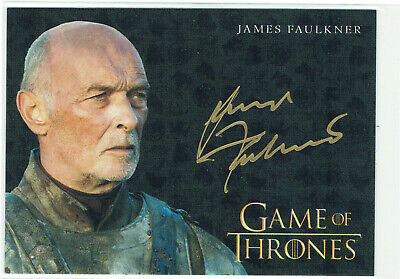 Game of Thrones Inflexions Gold Autograph Card James Faulkner as Randyll Tarly