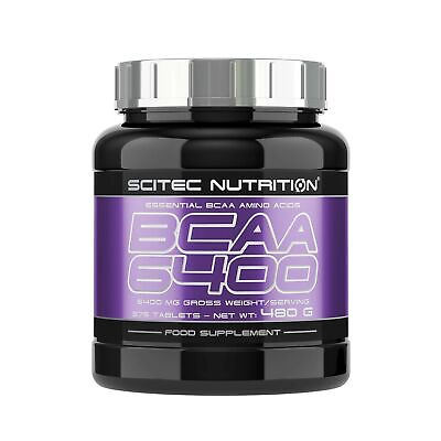 Scitec Nutrition BCAA 6400 Essential Amino Acids Tablets - 375 Tabs NEW