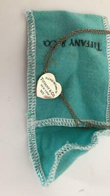 Tiffany & Co Return to Tiffany Sterling Silver 925 Heart Tag Beaded Necklace